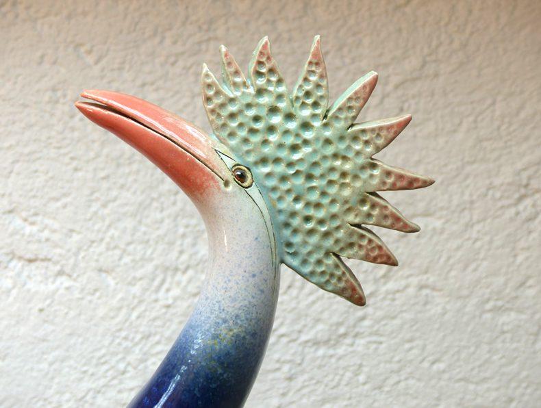 Paradiesvogel leuchtendblau