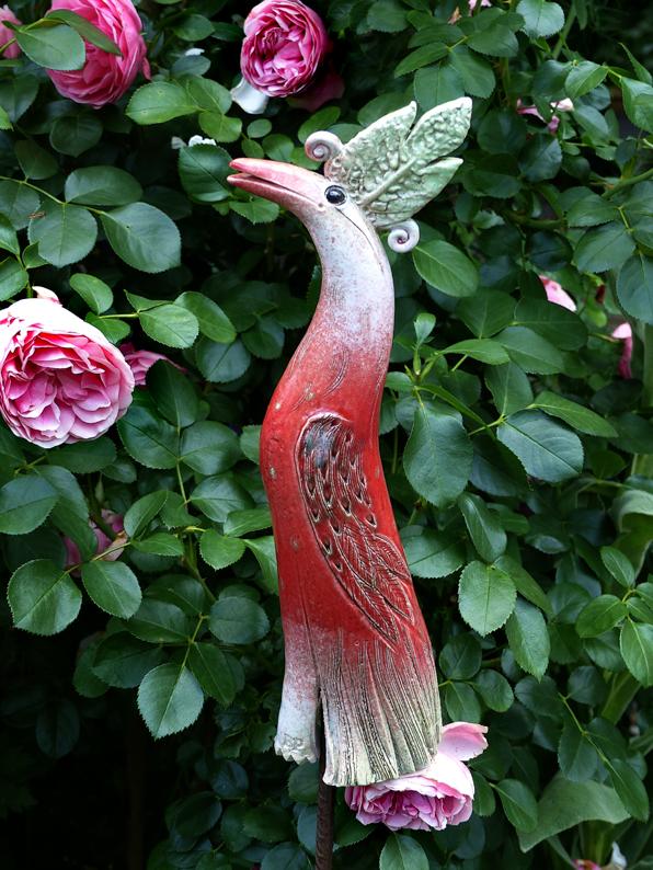 Paradiesvogel knallrot